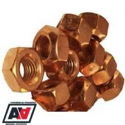 Copper Flashed Steel Exhaust Manifold Turbo Nuts M8 x 1.25mm Pack Of 10